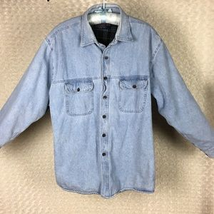 Tradition Jean Shirt Jacket Flannel Lined Sz 3 XL